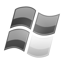windows logo grey white