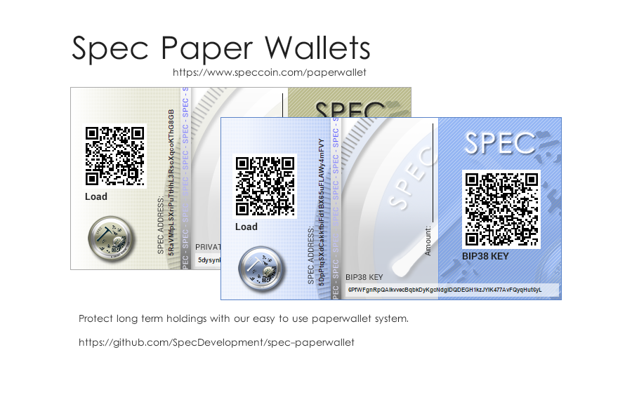 spec coin paper wallets