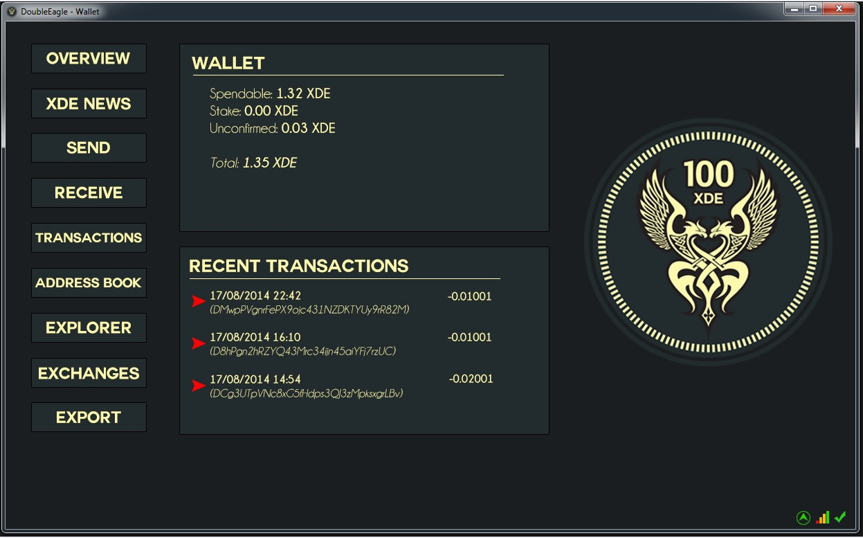 xde1-wallet